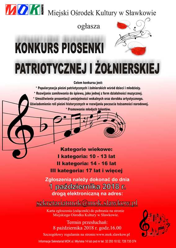 Konkurs Piosenki Patriotycznej I żołnierskiej Portal