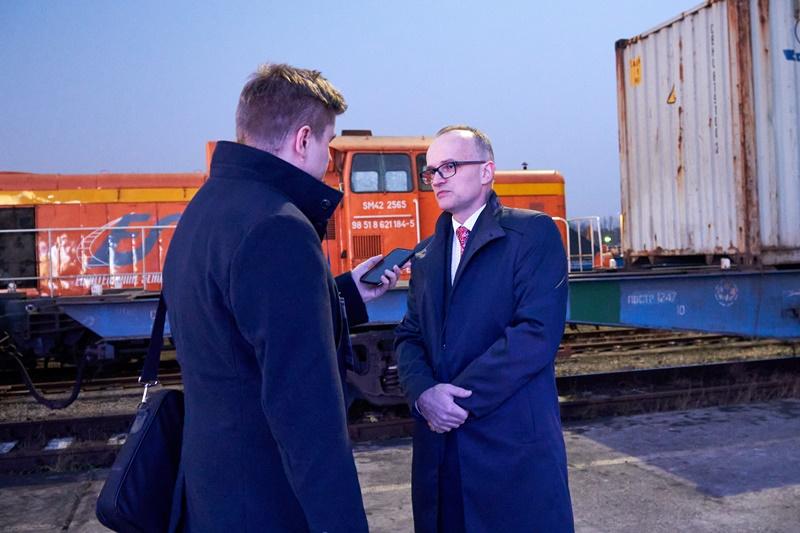 Burmistrz Sławkowa w rozmowie z przedstawicielami mediów