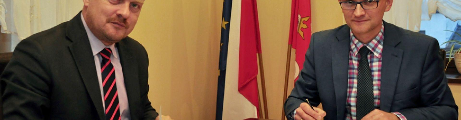 Z prezydentem Sosnowca Arkadiuszem Chęcińskim (fot. K. Kozieł)